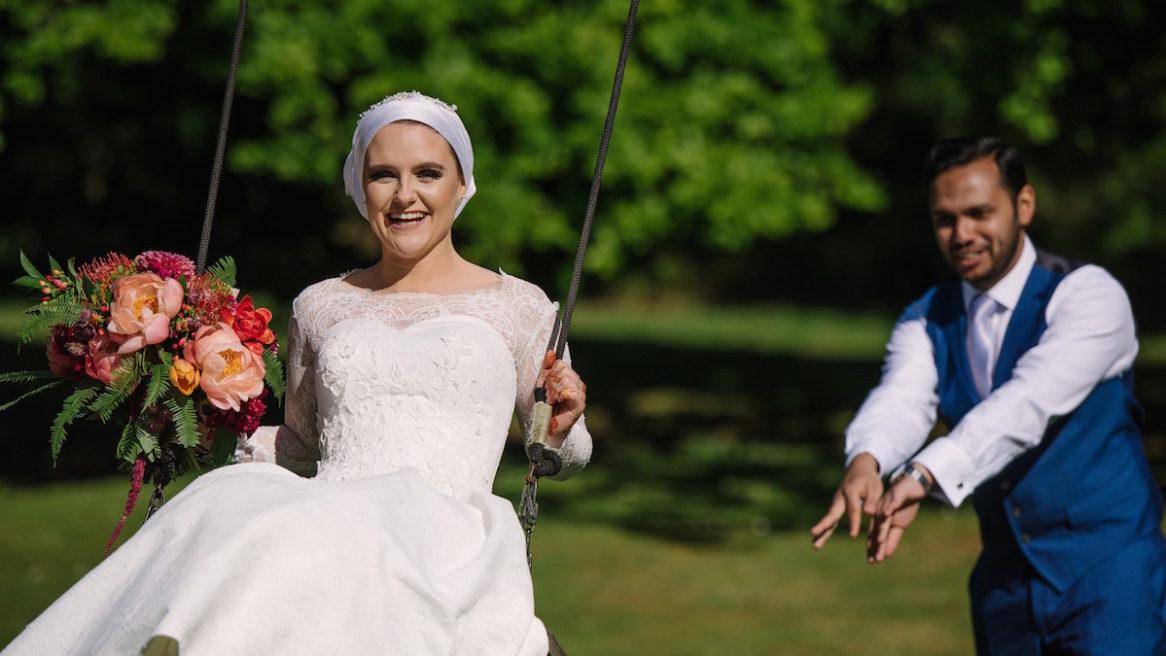 Wedding photography at Tournerbury Woods Estate