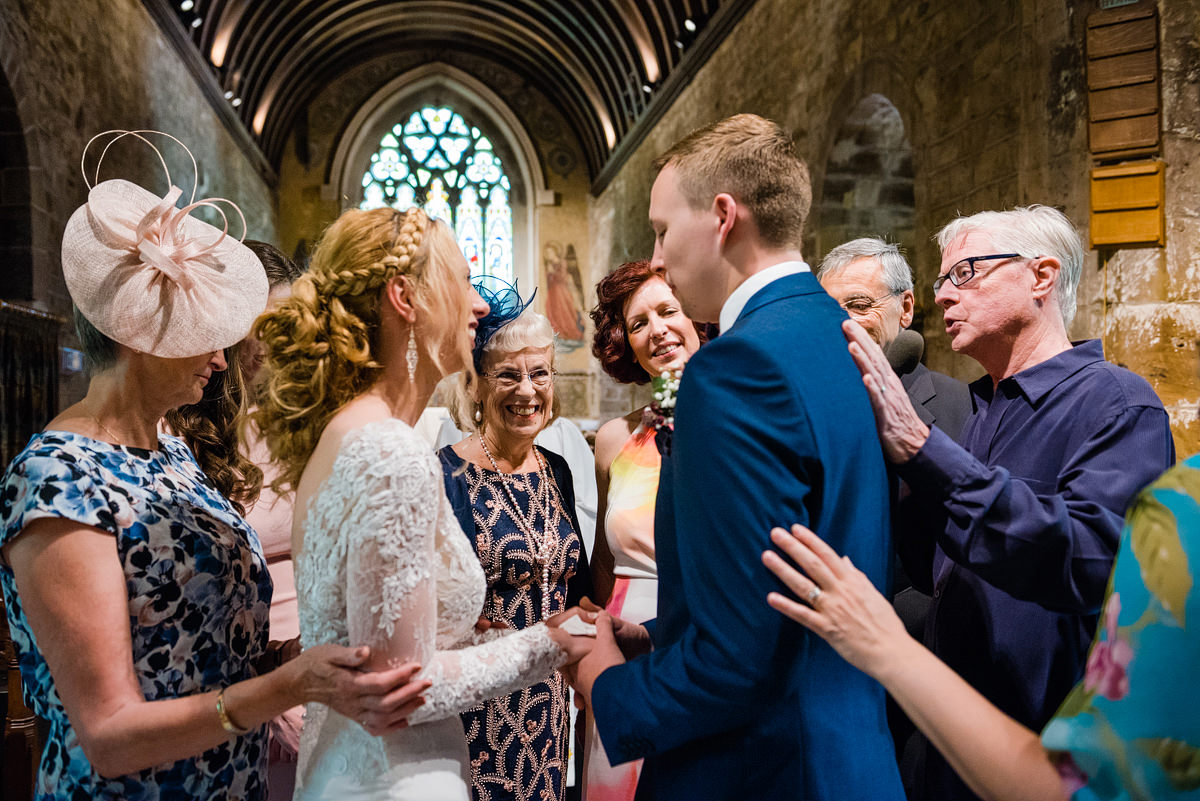 Wedding ceremony at Canford Parish Church