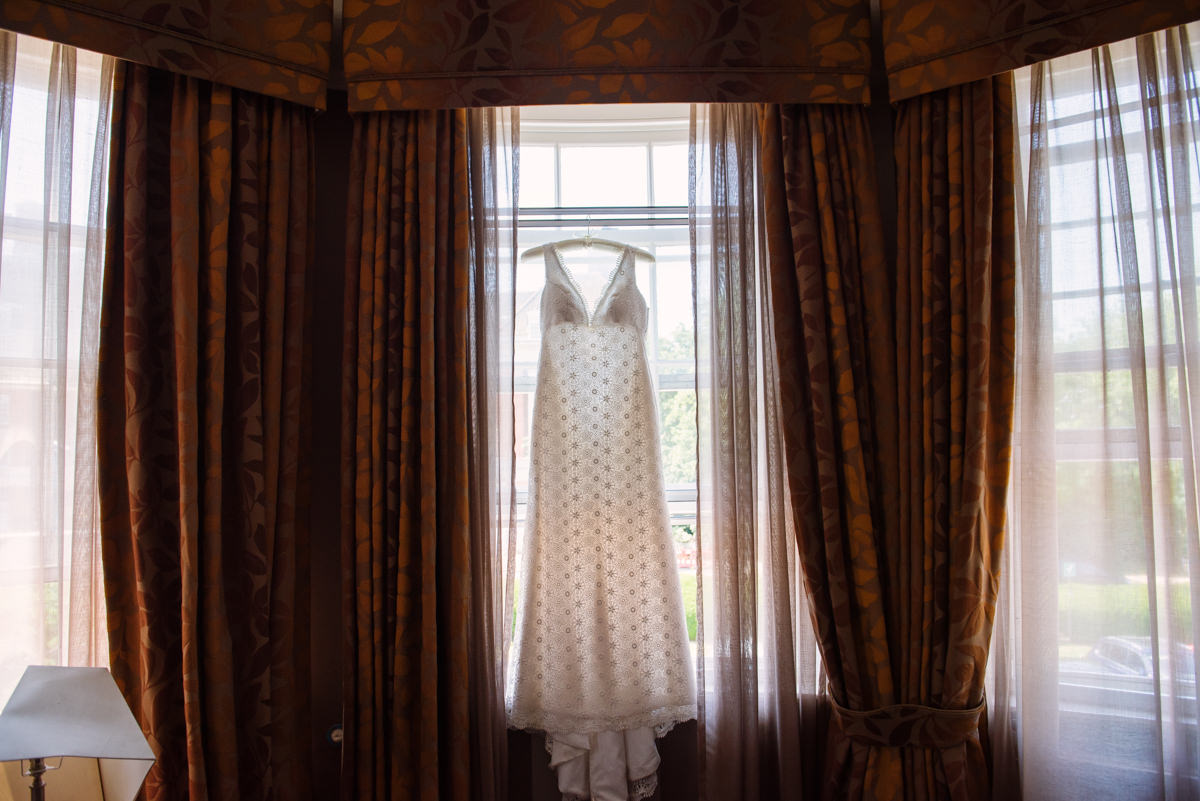 Wedding Dress in a room of Richmond Gate Hotel