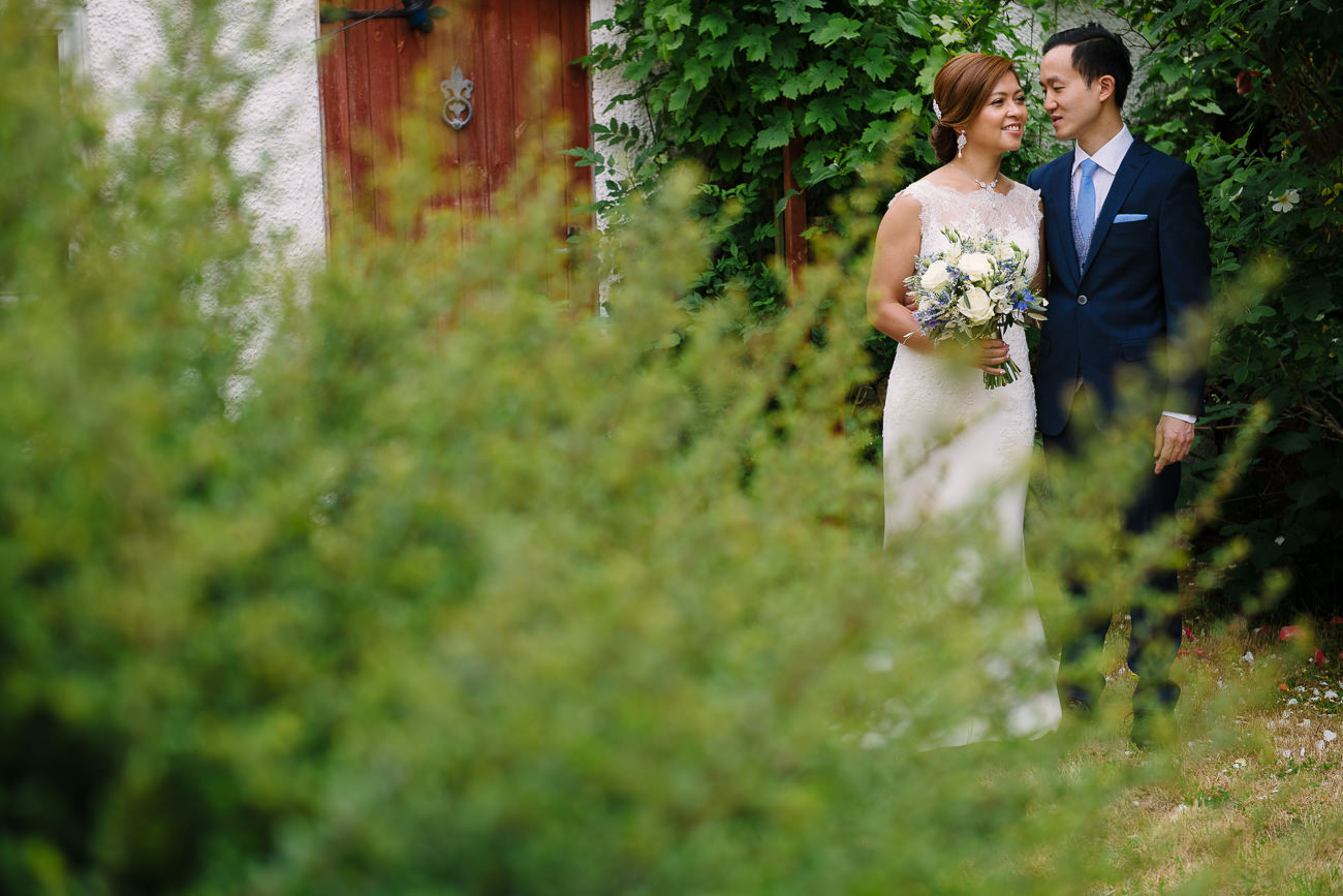 Wedding Couple Portrait in their London garden