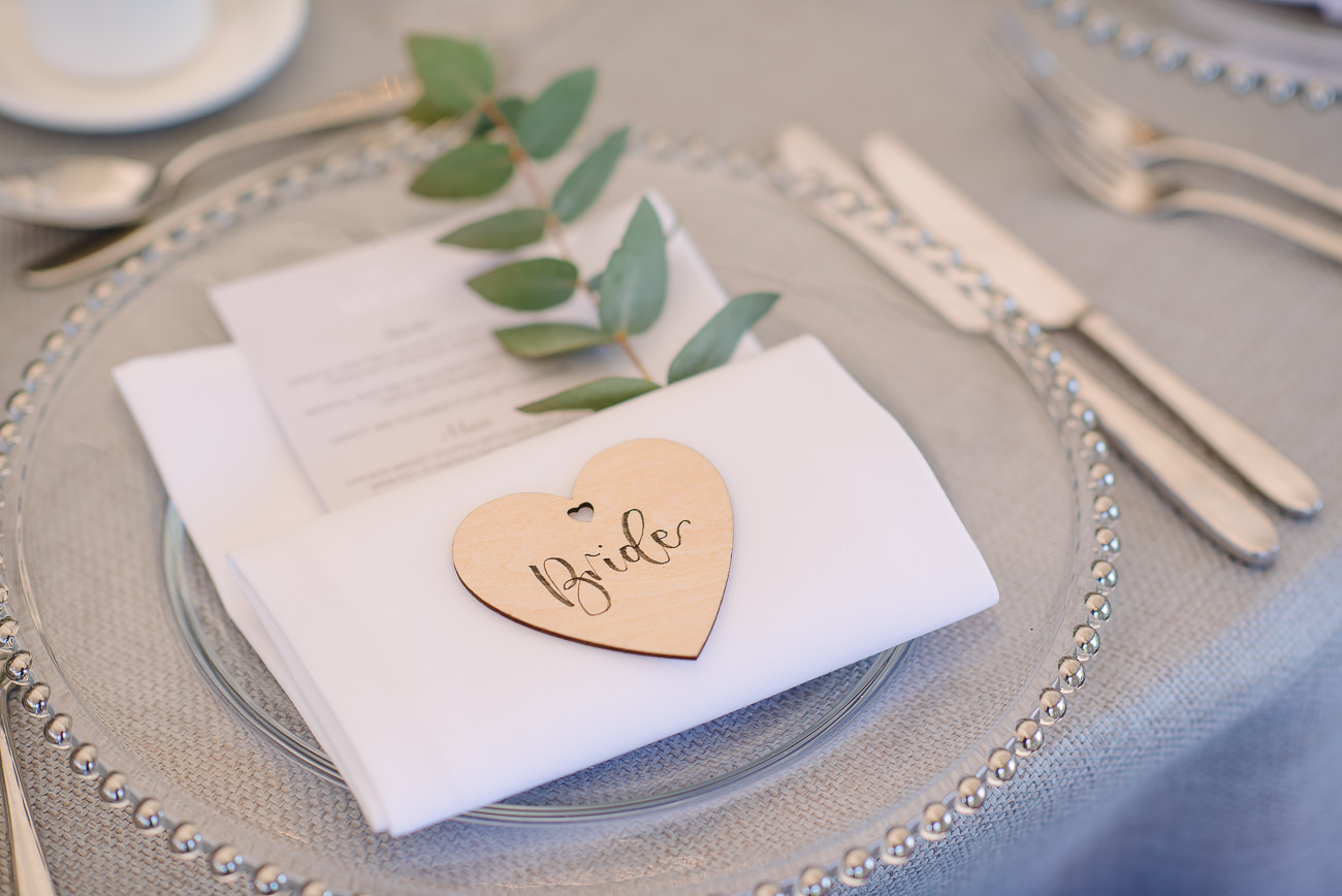 Wooden name place Bride
