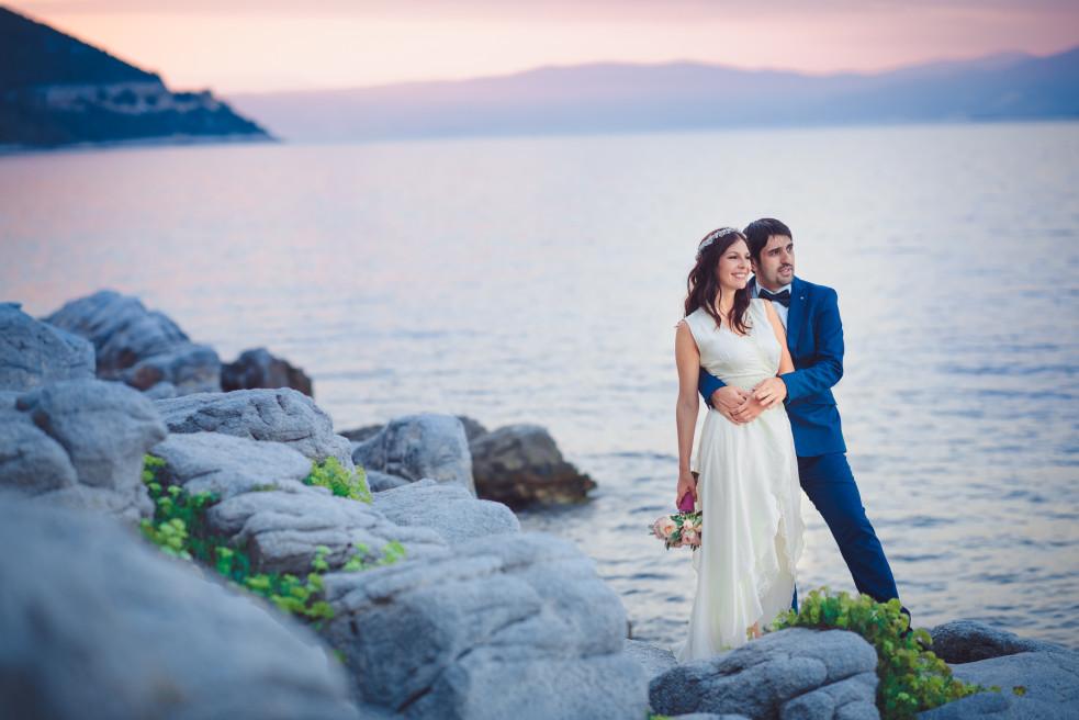 Destination wedding photographer Greece – Beach wedding in Thassos