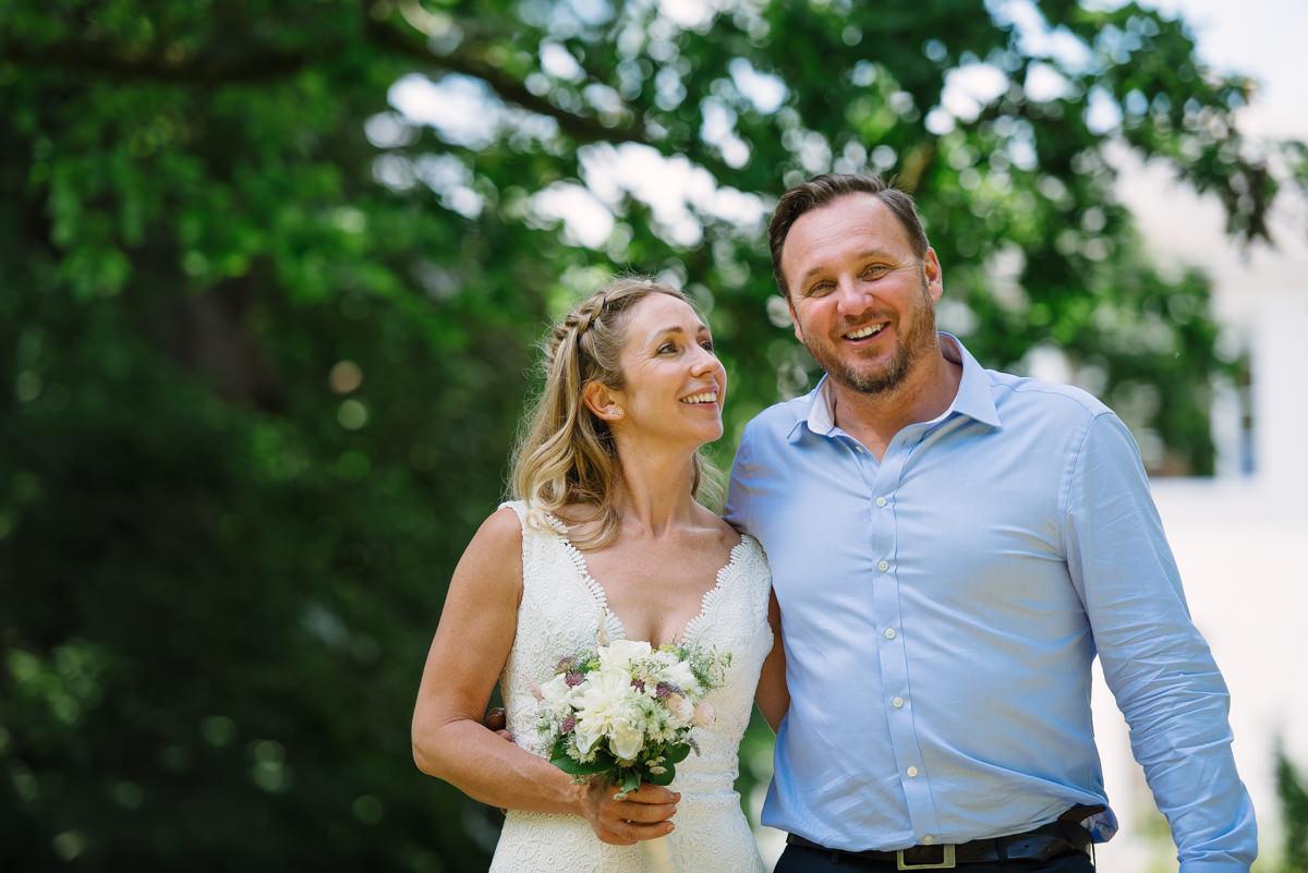 Richmond Wedding Photographer at Pembroke Lodge - Happy wedding couple