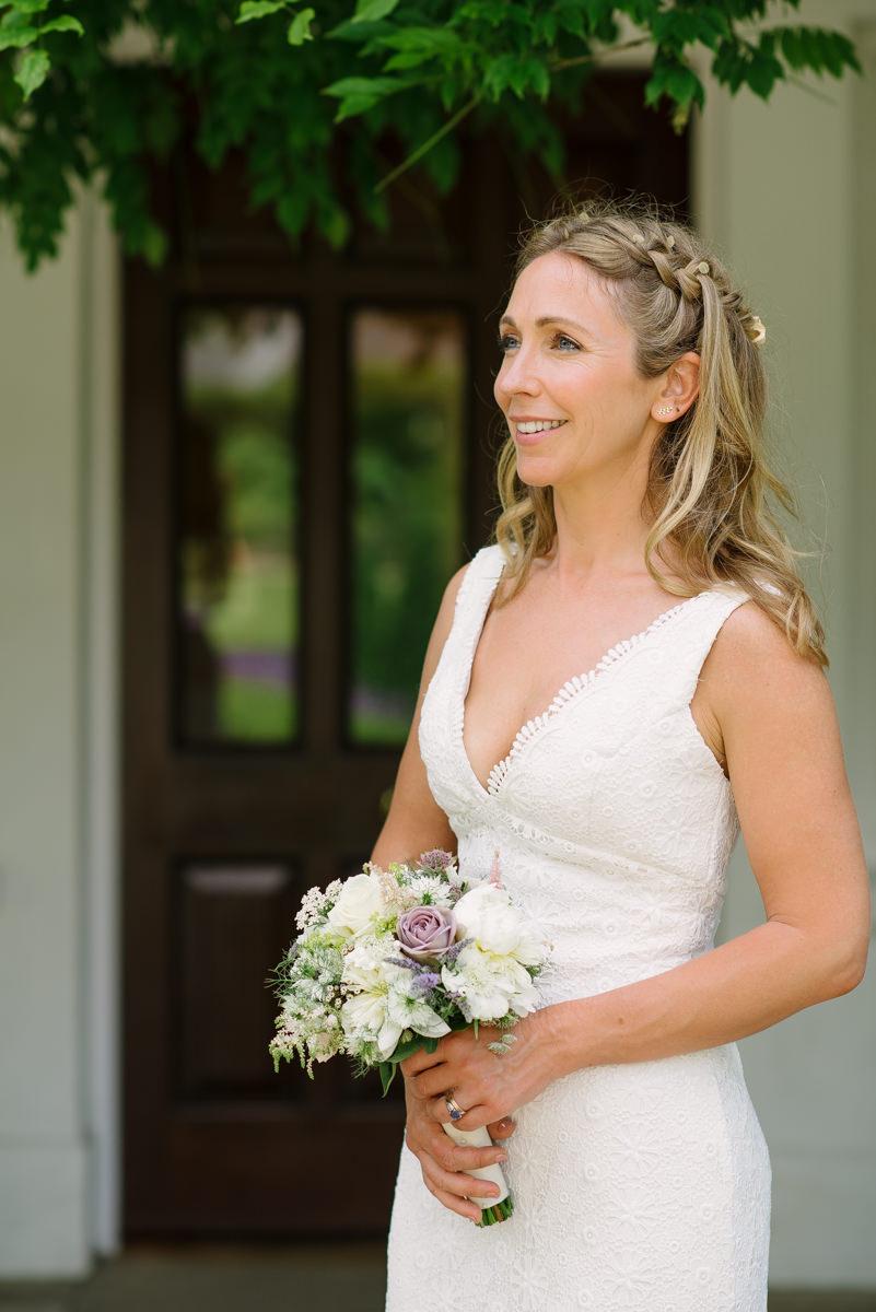 Bridal Portrait in front of Pembroke Lodge