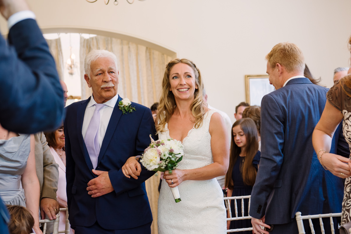 Bride and Father walking up the isle