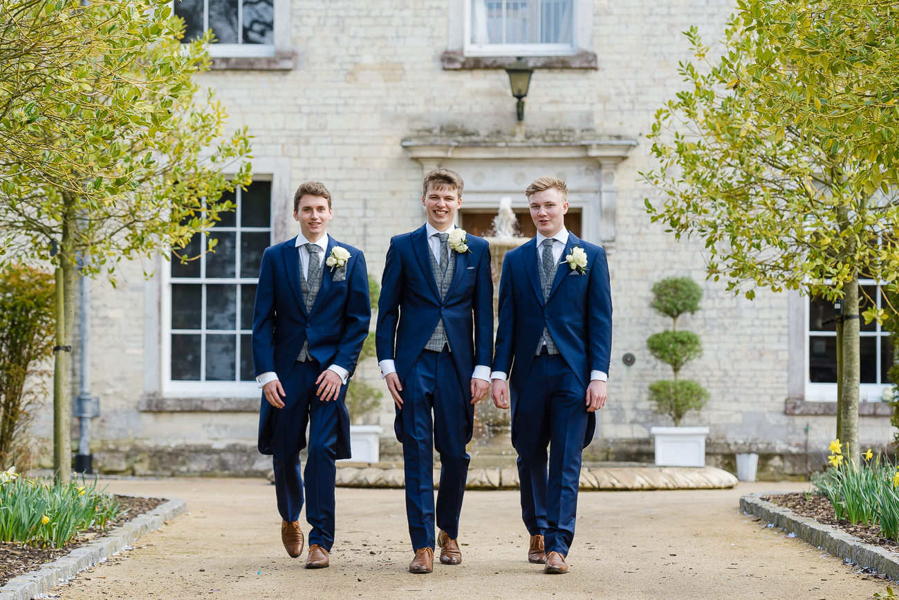 Groom and ushers portrait at Froyle Park