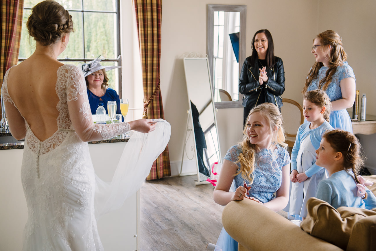 Wedding Dress Revealed before ceremony at Froyle Park