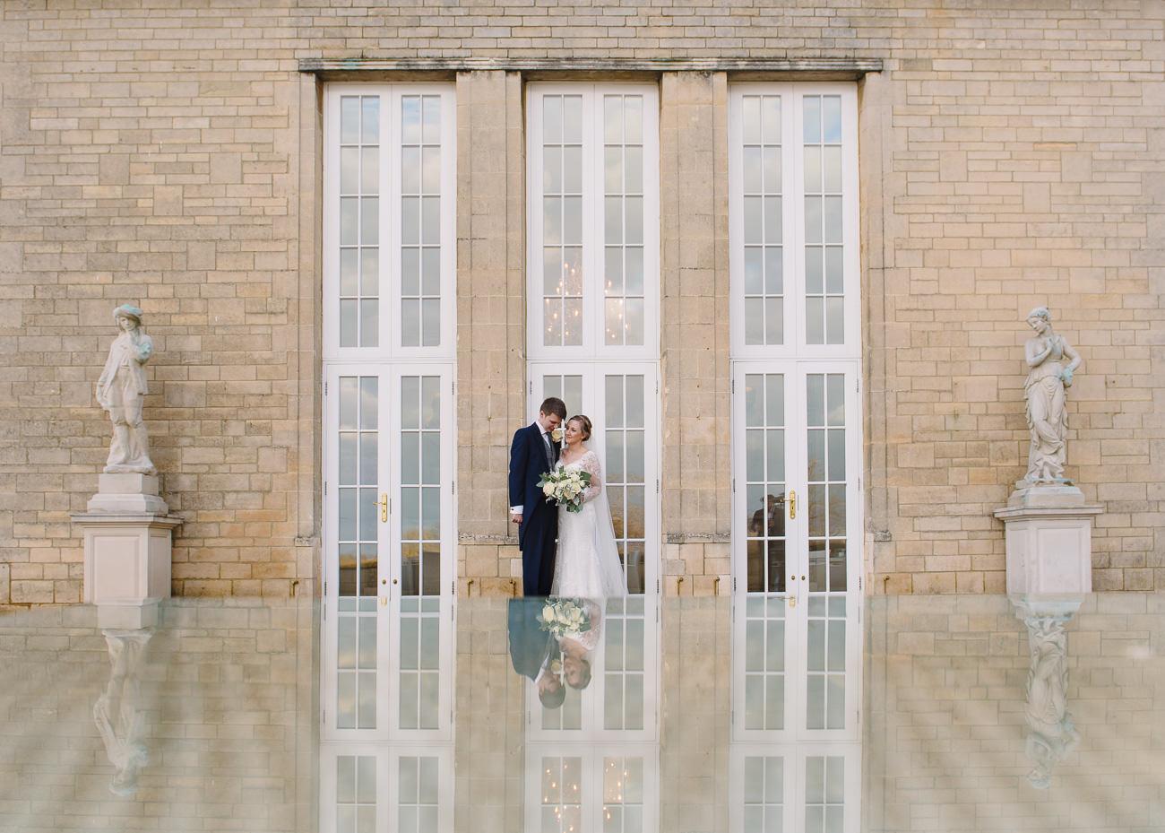 Bride and Groom portrait -wedding photography Froyle Park