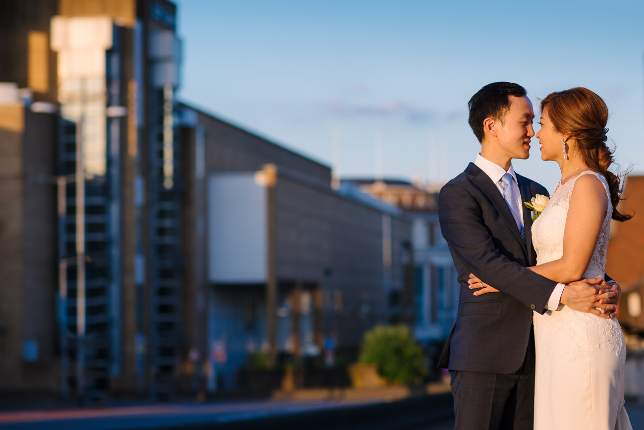 Kingston Upon Thames Wedding Photography at sunset