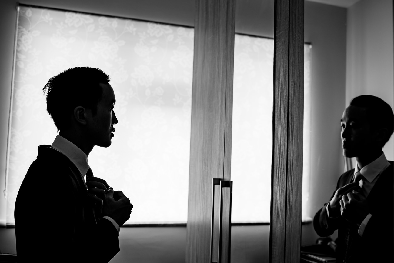 Groom Getting Ready London wedding photography