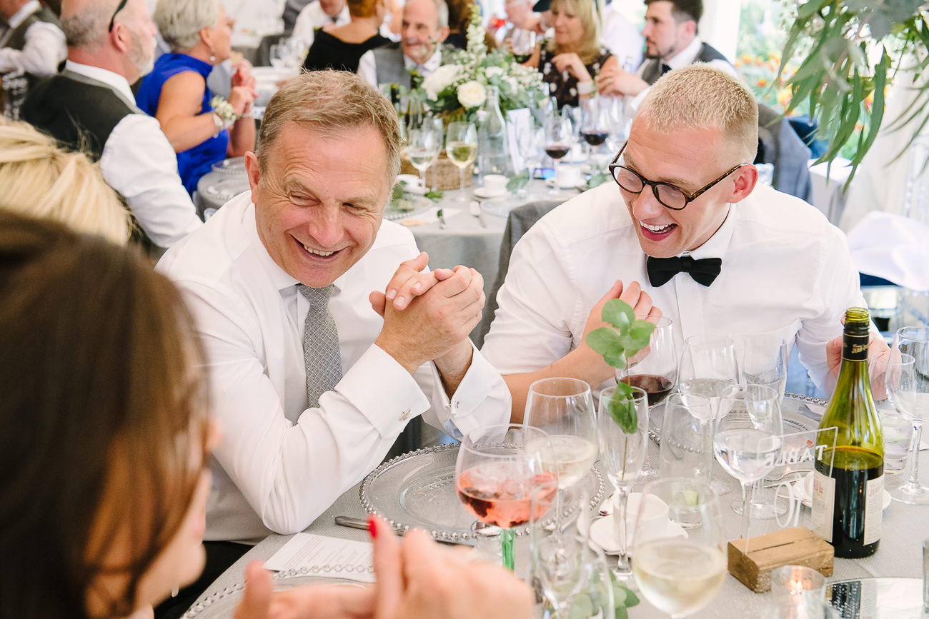 Wedding guests having fun at Russets