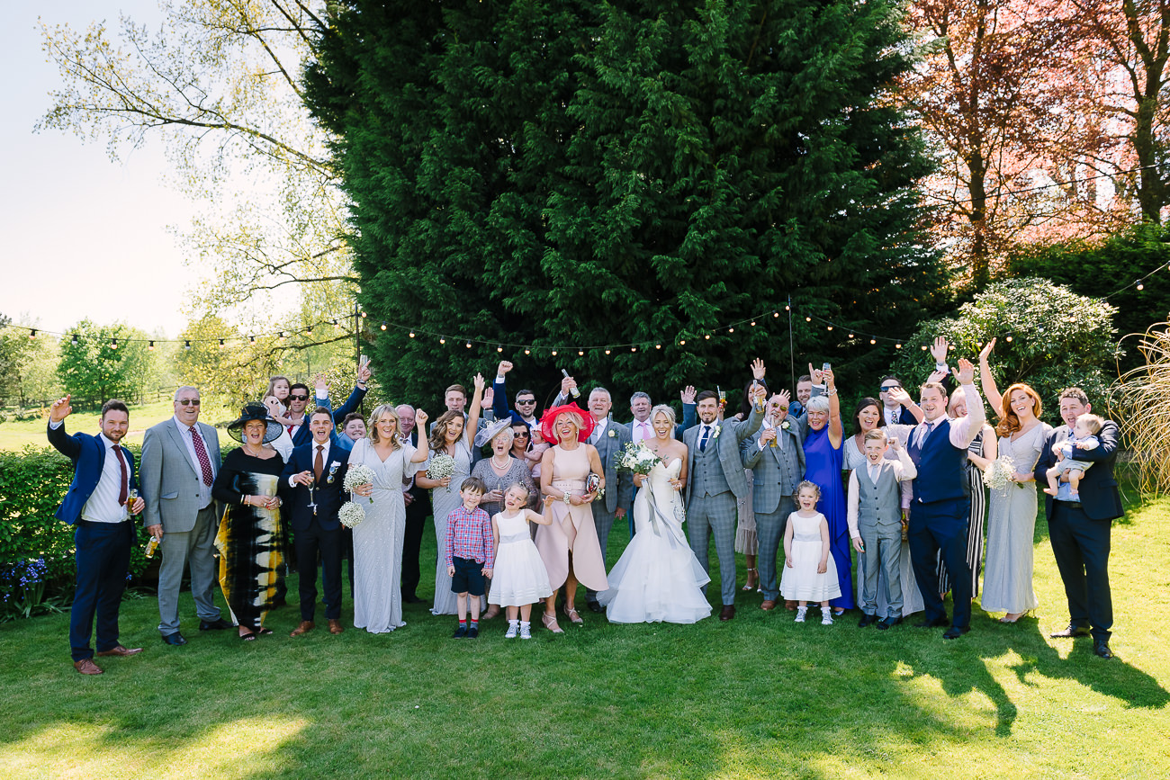 A wide group photograph at Russets Country House.