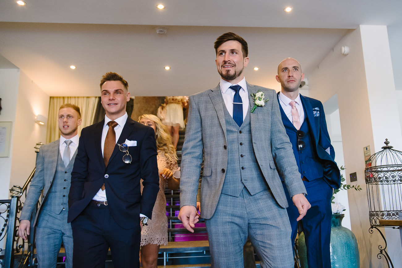 Groom with groomsmen at Russets Country House