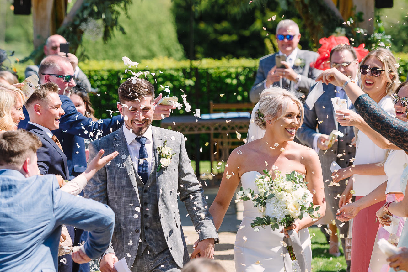 Fun confetti throw photography at Russets