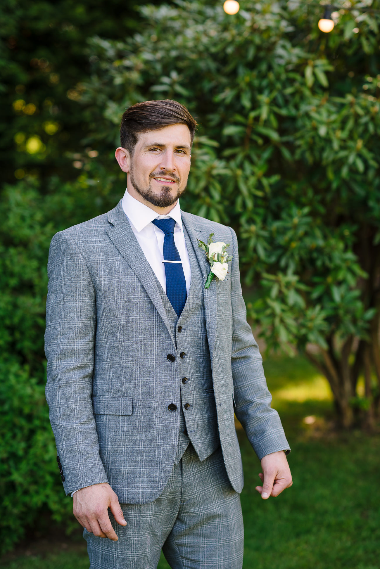 Groom portrait in the garden at Russets Country House